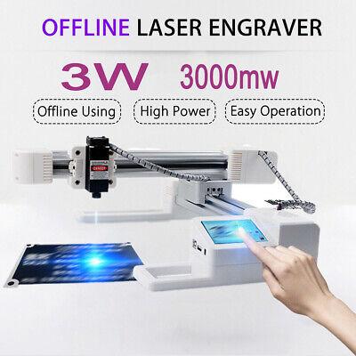 3000mw Desktop Laser Engraver Engraving Carving Machine Diy Logo Touch Screen Us
