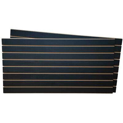 Melamine Slatwall Panels In Black 4 Wide X 2 High Feet - Case Of 2