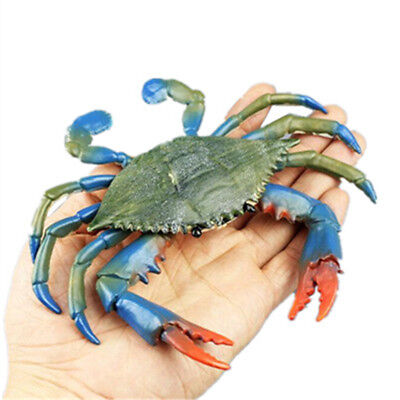 17cm Blue Crab Realistic Sea Animals Model Solid Figure Ocean Toy For Kid Gift