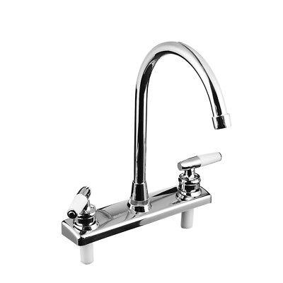 Double Dual Handle Spout Hot Cold Basin Sink Mixer Water Tap Kitchen Faucet Double Handle Kitchen Tap