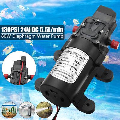 24v 130psi 5.5lmin High Pressure Diaphragm Water Pump For Rv Caravan Boat 80w