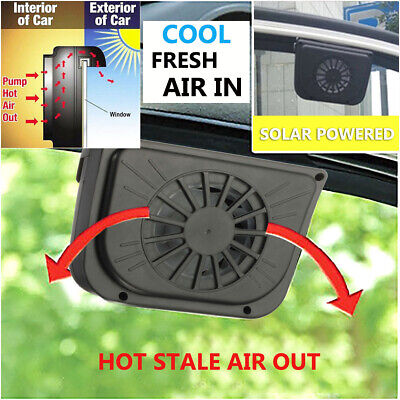 Car Auto Solar Powered Cooling Fan Air Vent Window Cooler Radiator System US  ()