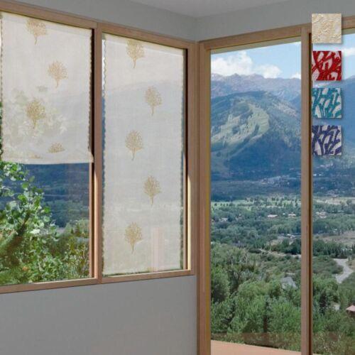 Coppia tendine a vetro Valencia finestra o balcone - dimensioni varie Q647