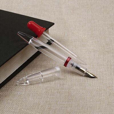 - W/ Gift Box High Capacity Fountain Pen Extra Fine Nib Transparent Moonman M2