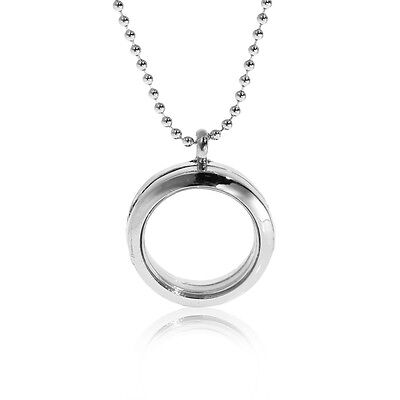 Round Locket Crystal Necklace Base and Floating Family Charms - Floating Locket Necklace And Floating Charms