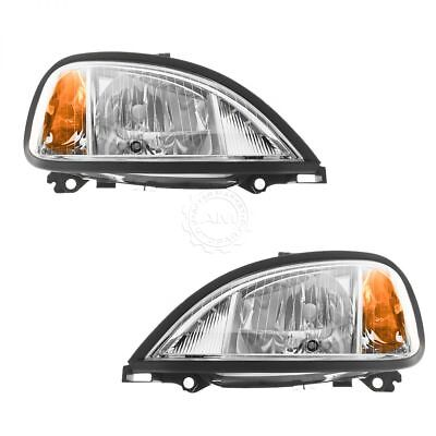 Headlights Headlamps Left  Right Pair Set for 04 13 Freightliner Columbia