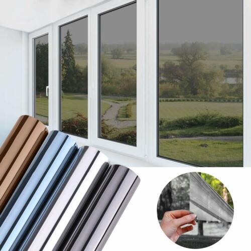 Sonnenschutz Fensterfolie UV Sichtschutzfolie Selbstklebend Spiegelfolie Folie