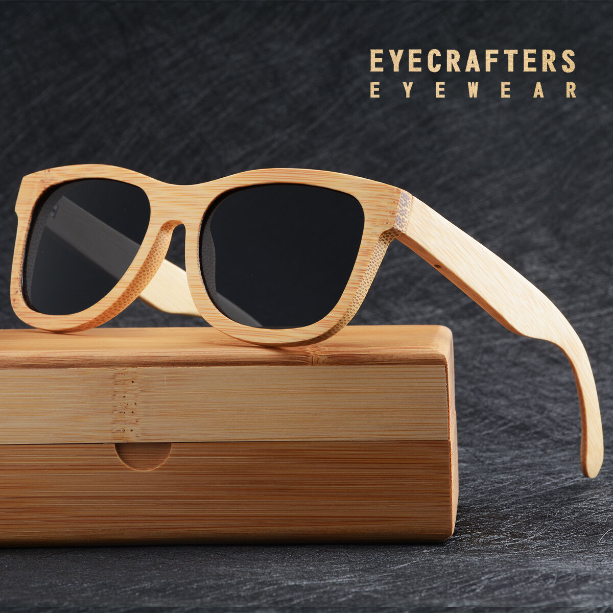100% Handmade Natural Bamboo Wood Sunglasses Mirrored Wooden