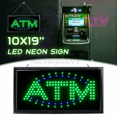 Hanging Atm Led Sign Neon Light Sign Flashing Business Bar Store Us