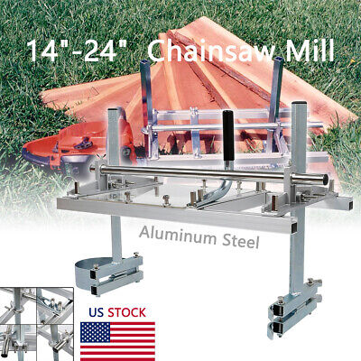 Portable Chainsaw Mill 14 - 24 Chain Saw Mill Aluminum Planking Lumber Us Ship