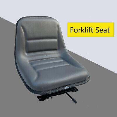 Universal Adjustable Forklift Seat Suspension W Sliding Track Fits Most Brands