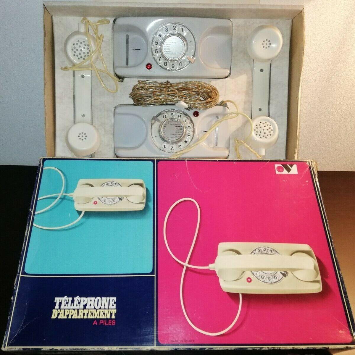 Téléphone d'appartement à piles mont blanc - vintage - jeux