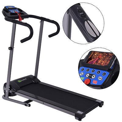 1100W Folding Treadmill Electric Support Motorized Power Running Fitness Machine