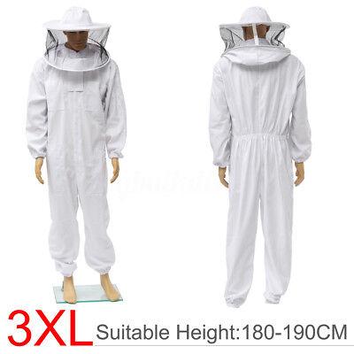Beekeeper Protection Bee Keeping Suit Safe Veil Hat All Body Equipment Hood Xxxl
