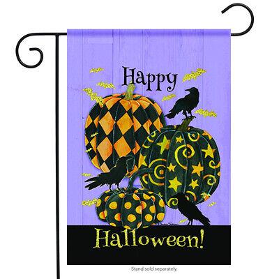 Happy Halloween Greetings Garden Flag