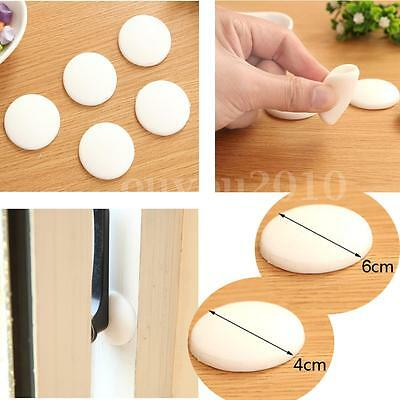 2~10x Rubber Round Wall Protector Self Adhesive Door Handle Bumper Guard Stopper