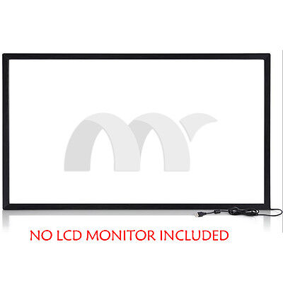 19″ DIY IR Touch Screen Overlay USB Free Drive Fit Windows Linux Android MAC OS (Touch Overlay)