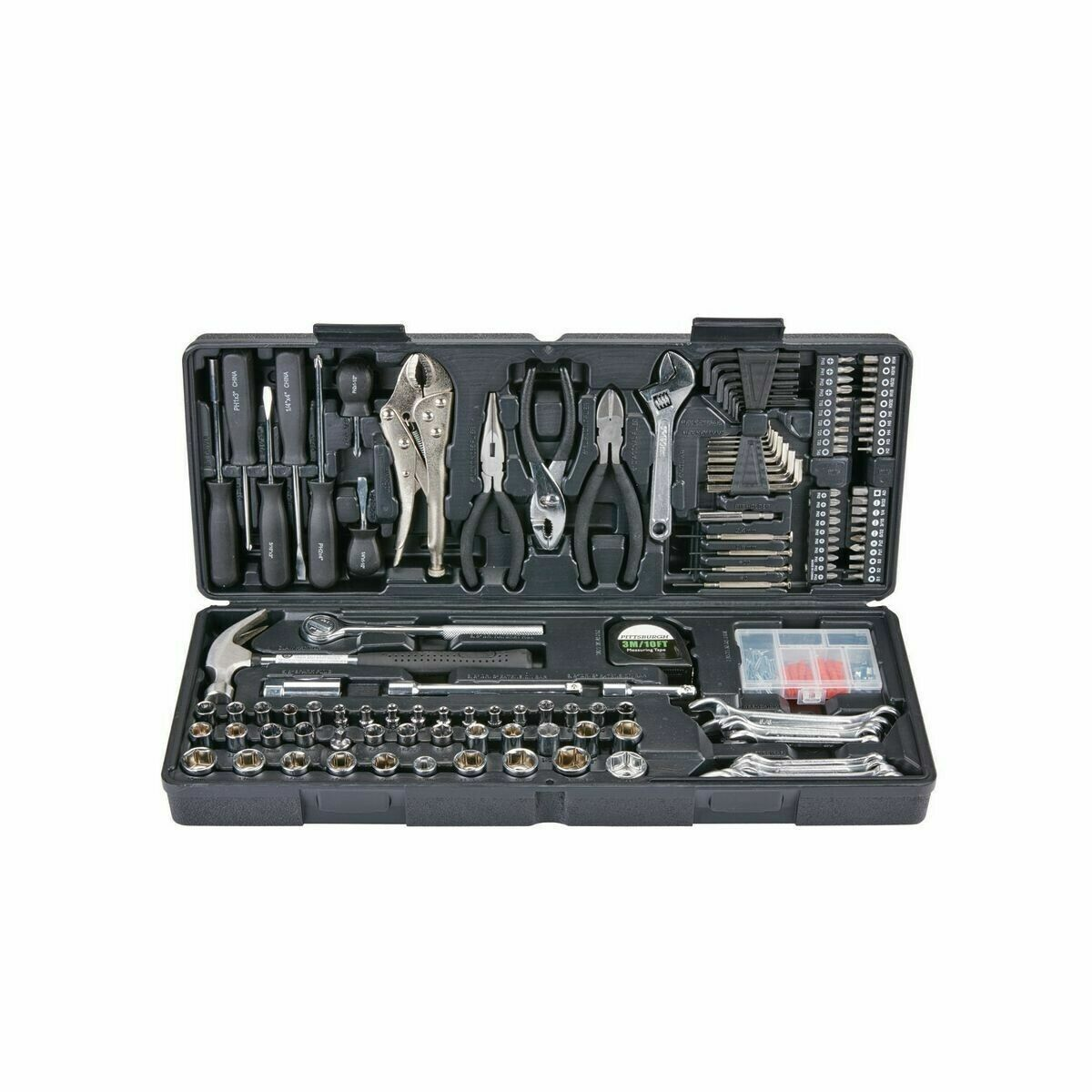 PITTSBURGH 130 PC TOOL KIT WITH CASE AUTO or HOME REPAIR KIT