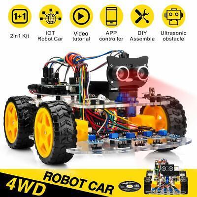 Us Robot Car Starter Kit For Arduino Uno Stem Kit Learning How To Code