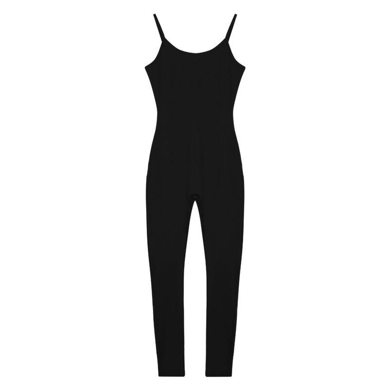 ranrann Womens One Piece Sleeveless Tank Leotard Solid Sports Gymnastic Bodysuit Jumpsuit