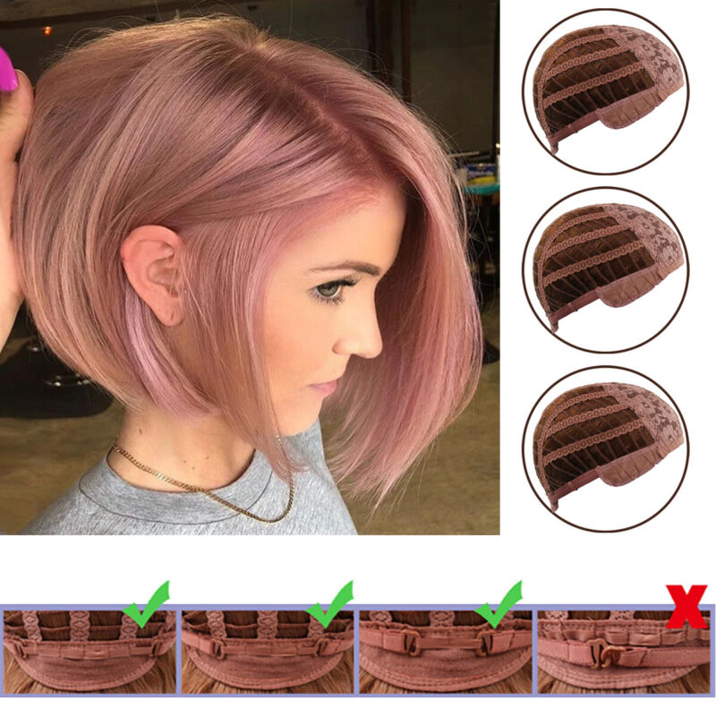 Womens Bob Short Straight Hair Wigs Natural Party Cosplay Fancy Real Full Wig Hair Care & Styling