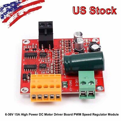 122436v 15a High Power Dc Motor Driver Board Module Pwm Speed Regulator