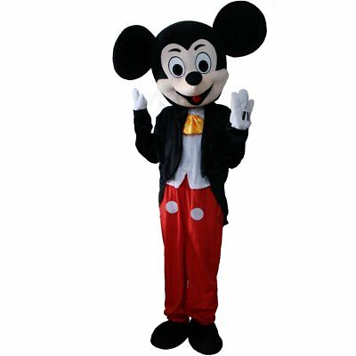 Mickey Mouse Mascot Costume Adult Halloween BIRTHDAY Disney Boy Party Minnie  - Adult Mickey Mouse Halloween Costume