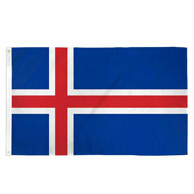 Iceland Flag 3×5 Polyester Indoor Outdoor Flag Country European Banner Icelandic Décor