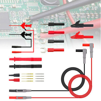 22pcs Multimeter Car Test Accessory Set 4mm Lead Cable Alligator Clips Probe Kit