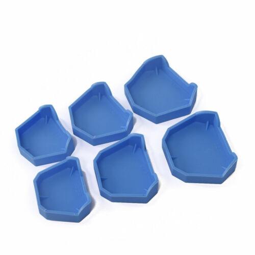 1Set Dental Silicone Rubber Lab Plaster Model Former Base Molds Tool Tray Blue