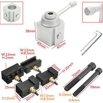 8pcs Mini Quick Change Tool Post Holder Aluminum Alloy Kit For Tablehobby Lathe