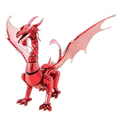 Fascinations ICONX RED DRAGON 3D Metal Earth Laser Cut Steel