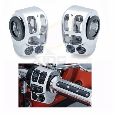 Chrome Switch Housing Cover Kit For Harley Touring Trike 2014 2015 2016 2017 18 Chrome Switch Housing Kit