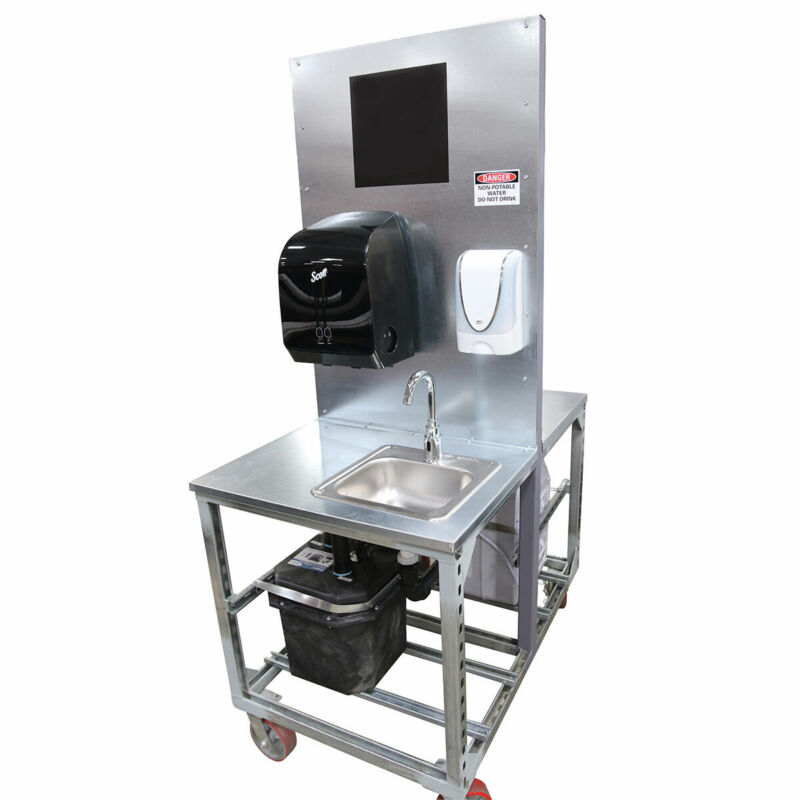 Tie Down Portable 2 Sink Compact Wash Station