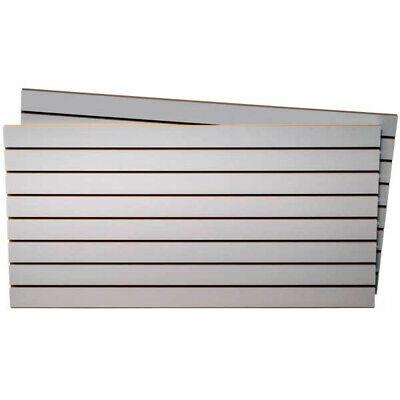 Fog Gray Melamine Slatwall Panels 4 Wide X 2 High Feet - Pack Of 2