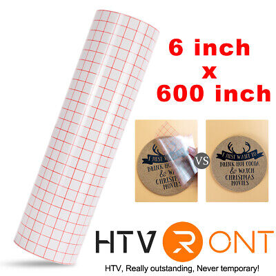 Adhesive Vinyl Transfer Tape Roll 50 X 6 Craft Application Paper For Cricut