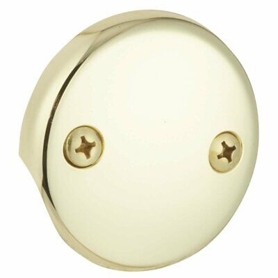 Overflow Faceplate - 454575 POLISHED BRASS Do it Metal Bath Drain Faceplate Bathtub Overflow Plate