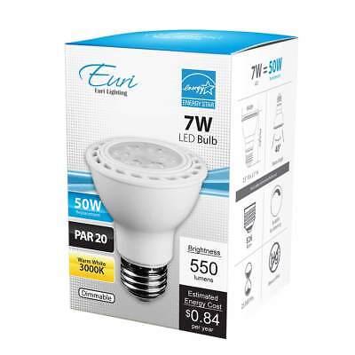PAR20 LED Bulb 7 Watt Dimmable (50W Equiv) 550 Lumens 40° by (7w Par20 Led)