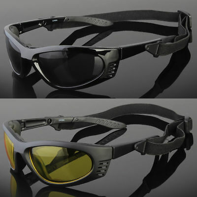 Wind Resistant Sunglasses Sport Motorcycle Riding With Strap Glasses Foam (Sunglass Straps For Men)