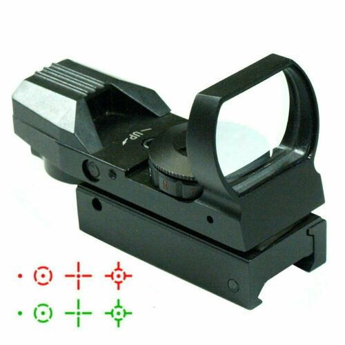 Tactical Holographic Reflex Red Green Dot Sight 4 Type Reticle for 20mm Rails