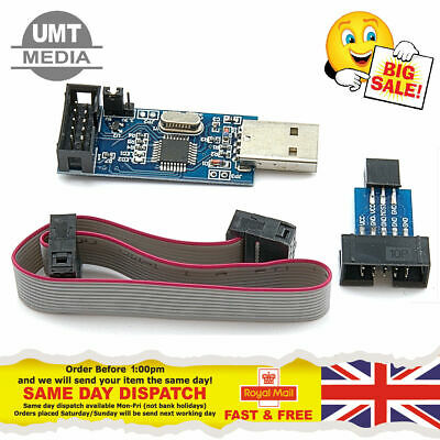Usbasp Usb Isp Programmer For Avr Atmel Arduino Atmega Including Idc Cable