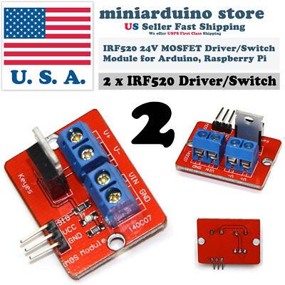 2pcs Irf520 24v Mosfet Driver Module Irf520n Raspberry Pi Arduino Arm Transistor