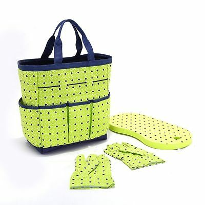 (No Tools Gardeners' Delight 3 Pc. Gardening Tote Bag Set In Lime)