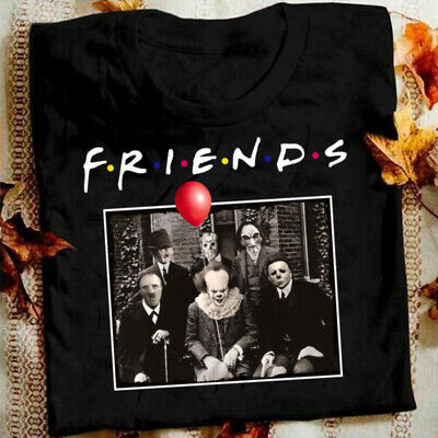 Unisex Horror Friends Pennywise Michael Myers Jason Voorhees Halloween (Myer Womens)