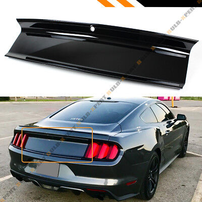FOR 2015-19 FORD MUSTANG PLAIN GLOSSY BLACK TRUNK DECKLID TRIM PANEL (Ford Replacement Panels)