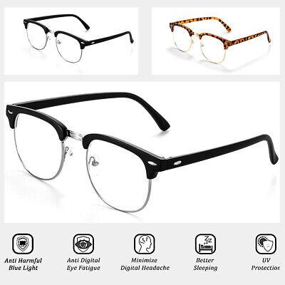2x Blue Light Blocking Glasses - Anti Eyestrain, Reduce Headache & Better