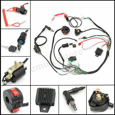 Wiring Harness Loom Solenoid Coil Rectifier CDI 50-125cc SPORTS ATV Quad