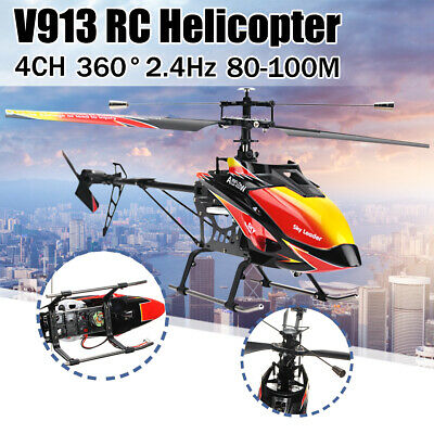 Large 27 inch 2.4G 4CH Helicopter 4 Channel RC Remote Control Single Blade US](4 Channel Helicopter)