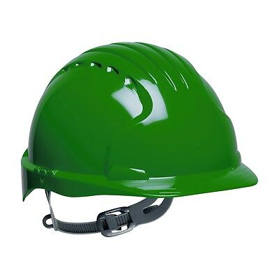 Jsp Hard Hat Green Cap Style With 6 Point Slip Ratchet Suspension