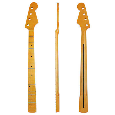 Electric Bass Guitar Neck For Jazz Bass Jb Body Parts Replacement Maple 21 Frets